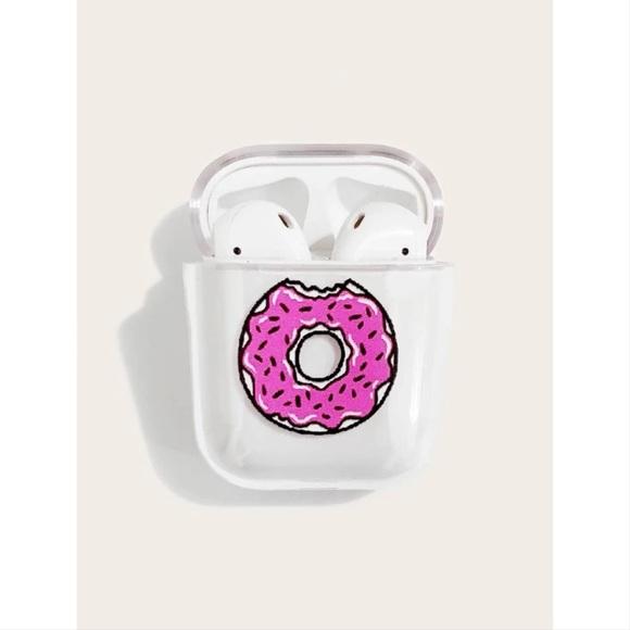 Pink Doughnut Transparent AirPods Case 🍩